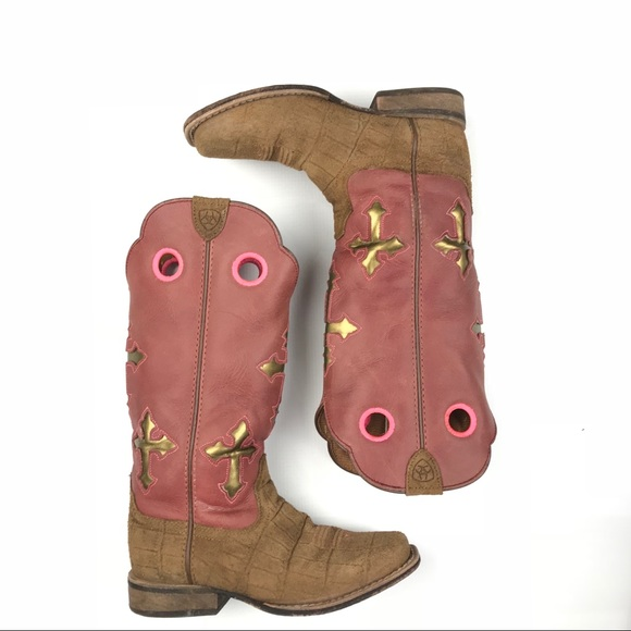8baca40304a Ariat Girls Ranchero Distressed Cowboy Boots